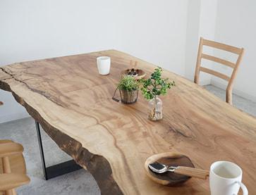 一枚板テーブル hanayura(野田家具 花ゆら)