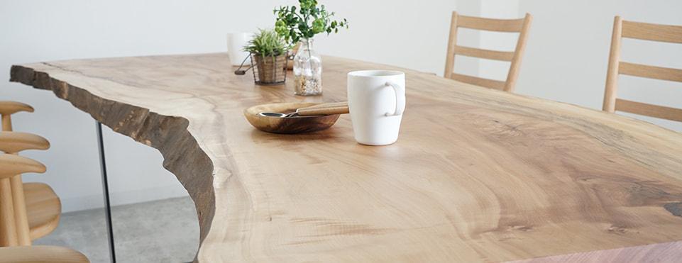 hanayura(野田家具 花ゆら)商品情報 一枚板テーブル
