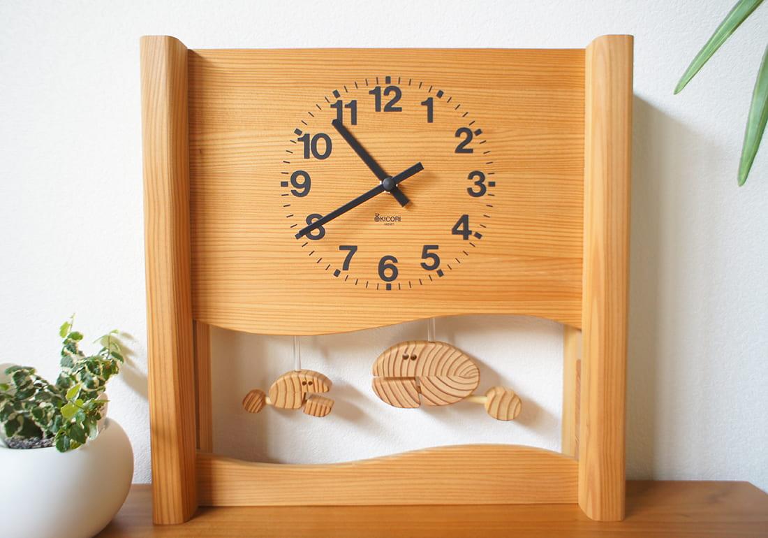 クオーツ時計 さかなの親子の時計